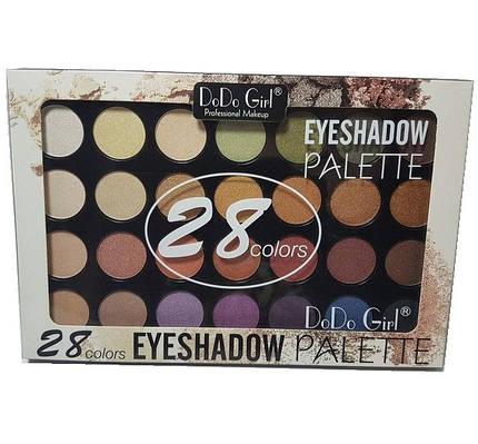 Палитра теней для век DoDo Girl Professional Makeup (28 цветов) №02