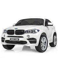 Детский электромобиль джип BMW X6 Bambi M JJ 2168-1 Белый, фото 1
