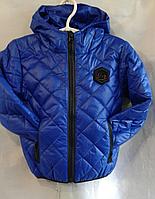 Куртка ромбик детская р. 92-116, электрик