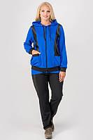 Спортивный костюм с кожаными вставками Шарлин для женщин большого размера 54-64 батал электрик