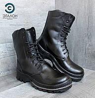 Ботинки берцы зимние кожаные DMS-1 чёрные