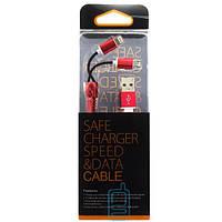 USB шнур Zipper Lightning and Micro USB original charger красный