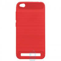 Чехол силиконовый Polished Carbon Xiaomi Redmi 5A красный