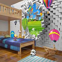 """3D фотообои """"Воздушные шары"""""""