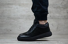 Мужские зимние ботинки Philipp Plein черные топ реплика