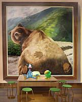 """3D фотообои """"Медведь в горах"""""""
