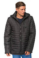 Стеганная мужская куртка демисезонная большие размеры 50-52 черная