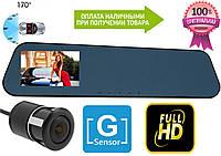 Зеркало видеоРегистратор Blaсkbox на 2 камеры, FullHd, G-Sensor +камера