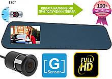 Дзеркало відеореєстратор Blaсkbox на 2 камери, FullHd, G-Sensor +камера