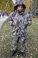 Теплый костюм  зимний лес камуфляж.