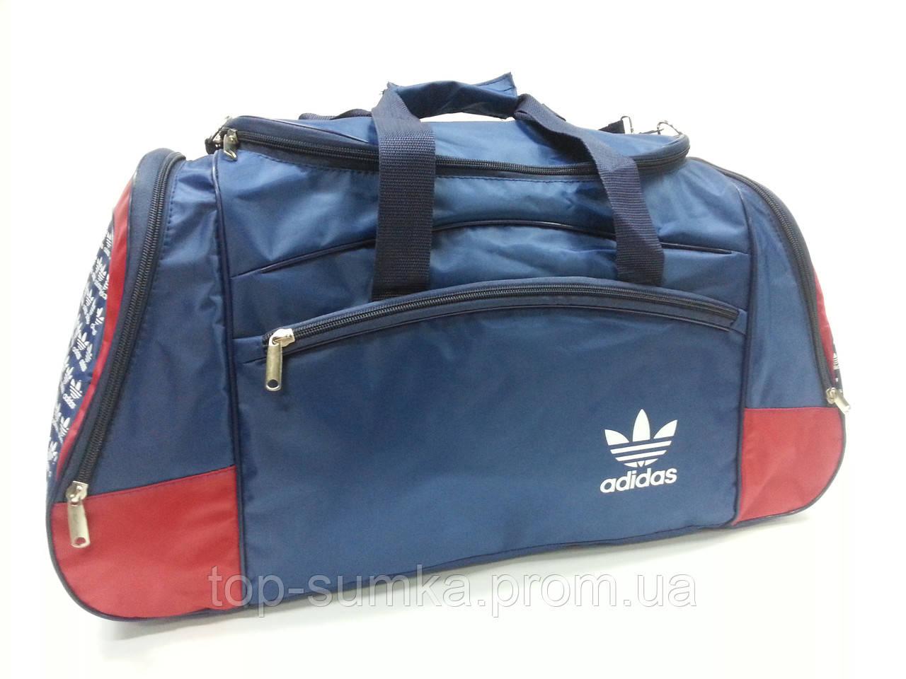0b7ee03aadae Сумка Спортивная , Дорожная Adidas 19020. Синий/красный . Большая 53 ...