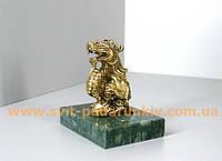 Бронзовый Дракон с жемчужиной - талисман удачи