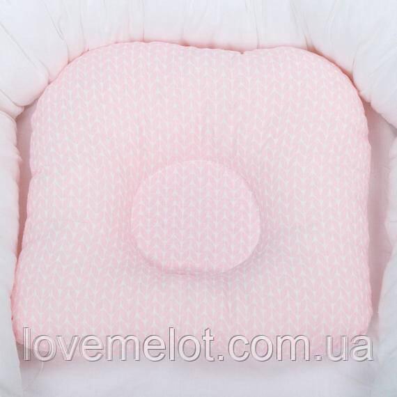 """Детская подушка ортопедическая для новорожденных """"Прелесть"""" подушка для девочки"""