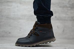 Мужские кожаные зимние ботинки Columbia черные топ реплика  продажа ... ff3f3fe5d9a
