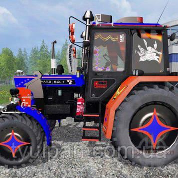 Трактор комбайн камаз   Вафельная картинка