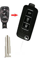 Корпус выкидного ключа Hyundai 3 кнопки (для переробки)