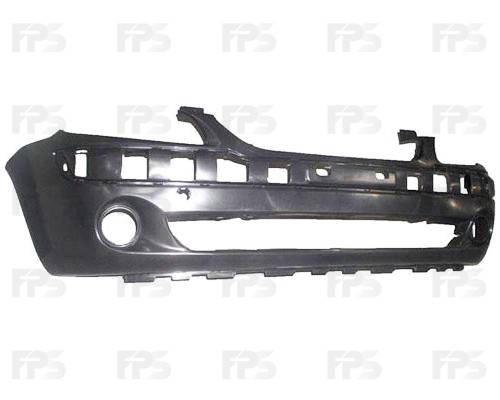 Передний бампер Hyundai Getz 06-11 черный, c отв. под ПТФ (FPS), фото 2