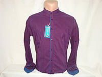 Мужская рубашка в клетку с воротником стойкой Fr.Varetti, Турция