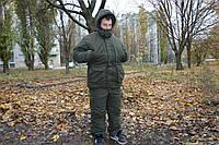 Зимний костюм для рыбалки и охоты Олива.Теплый и качественный пошив.