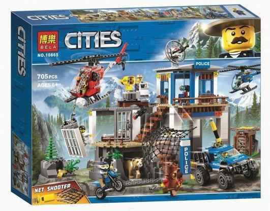 Конструктор Bela 10865 Штаб квартира горной полиции (аналог Lego City 60174)