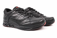 Кроссовки мужские Ecco натуральная кожа, цвет черный (туфли, комфорт, платформа, весна\осень)