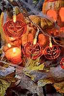 """Светодиодная гирлянда на хэллоуин """"Крутые тыквы"""", фото 1"""