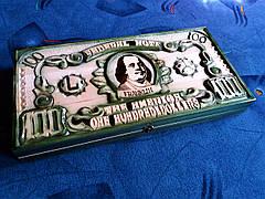 """Нарды """"100 долларов"""" зелёные, фото 3"""