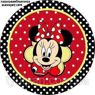 Микки и Мини Маус Вафельная картинка
