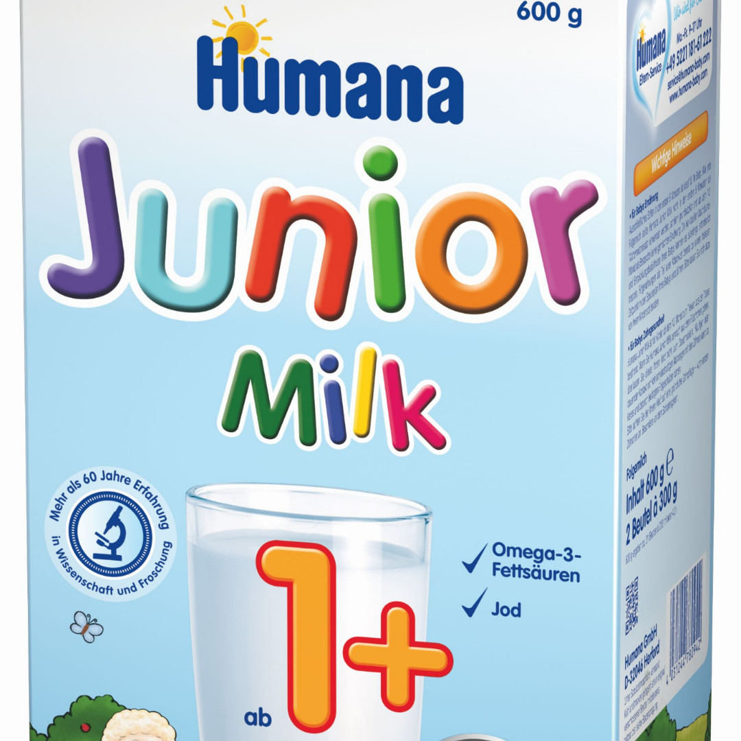 Растворимое молочко Humana Джуниор 600 гр.