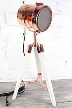 Торшер светильник прожектор в стиле лофт (НИЗКИЙ)  Модель 7 на деревяной треноге