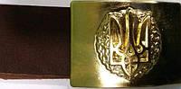 Ремни кожа солдату с пряжками латунь с гербом