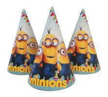 Колпачки праздничные детские для дня рождения  Миньоны 10 шт