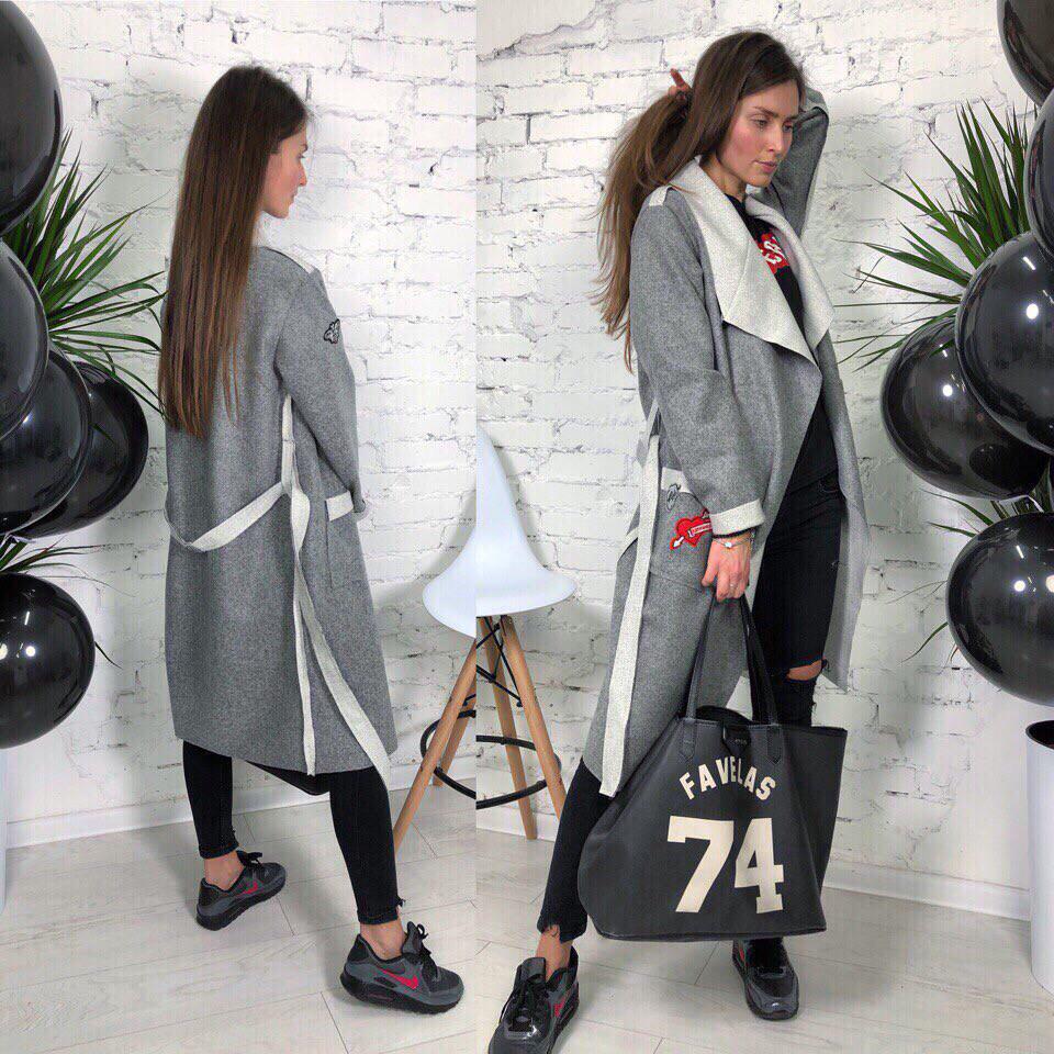 Женское стильное пальто-кардиган в разных расцветках  продажа 3ea8dda502ed3