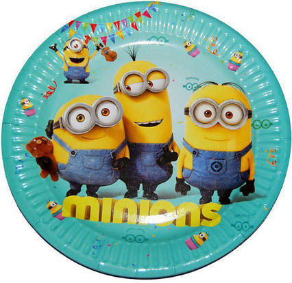 Тарелки детские одноразовые  Миньоны 10 штук