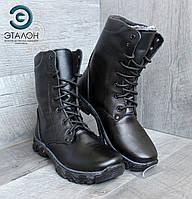 Ботинки женские берцы зимние кожаные DMS-3N утепленные натуральным мехом