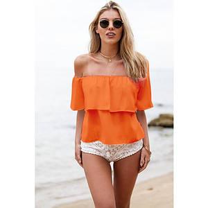 Пляжный топ накидка оранж, S-M