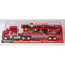 Автовоз Мак трейлер красный прицеп +6 машинок из мультика из м/ф Тачки, фото 3