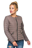 Коротка стьобаний демісезонна куртка весна-осінь 44-46 розміру кавова, фото 1