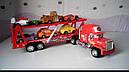 Автовоз Мак трейлер красный прицеп +6 машинок из мультика из м/ф Тачки, фото 5