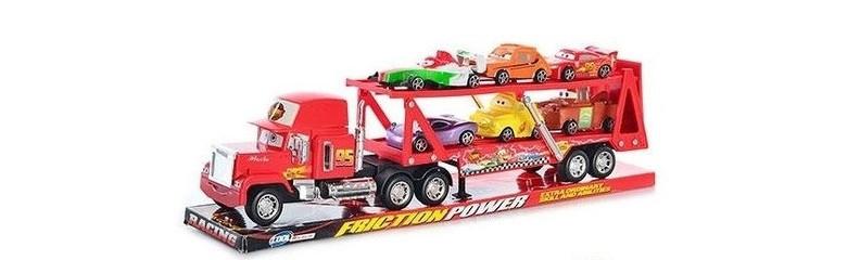 Автовоз Мак трейлер красный прицеп +6 машинок из мультика из м/ф Тачки