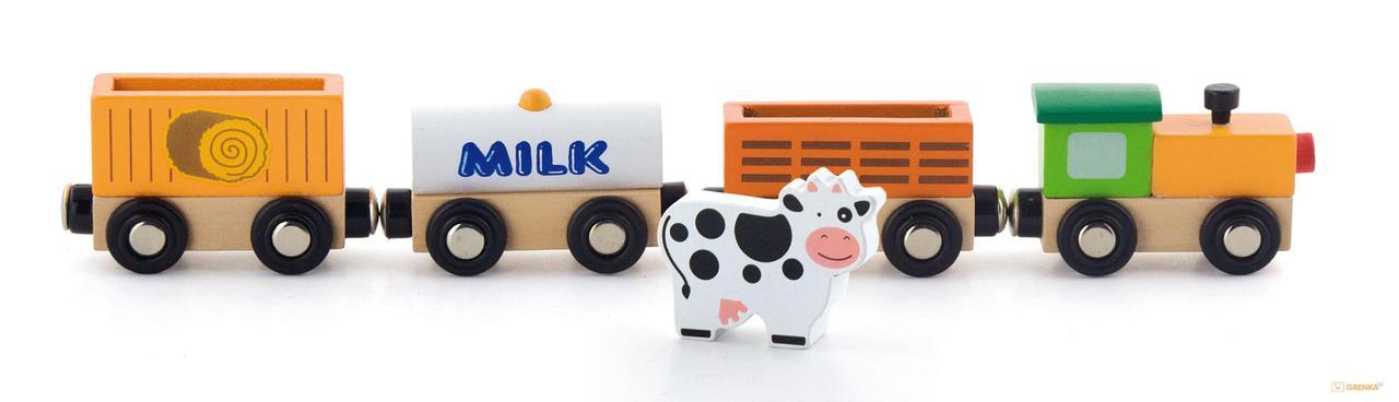 Дополнительный набор к ж/д Поезд-ферма Viga toys (50821)