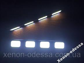 LED COB DRL 12 см (4 светящихся сегмента), фото 2
