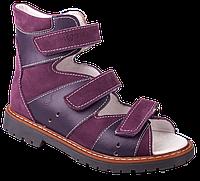 Фиолетовые босоножки для девочки