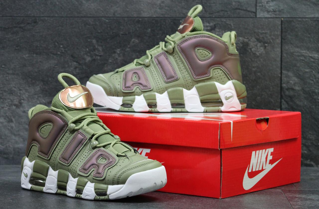 7ccf845b Кроссовки Мужские Зеленые Nike Air More Uptempo 96 5694 — в ...