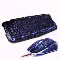 Ігровий комплект: клавіатура і миша з підсвічуванням UKM-M200 Bandle