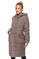 Женская зимняя удлиненная куртка, фото 1