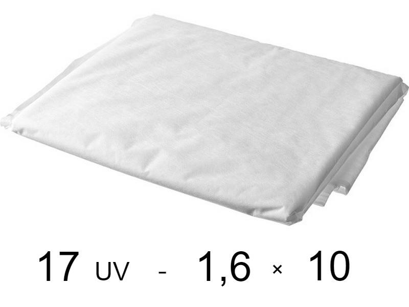 Агроволокно белое 17 uv - 1,6 × 10 м (Гекса)