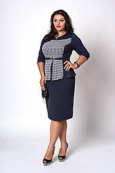 Женское платье имитация костюма, 52,54,56