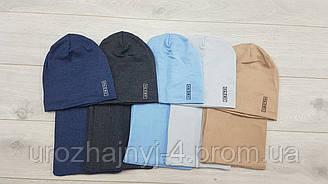 Детские трикотажные шапка и хомут