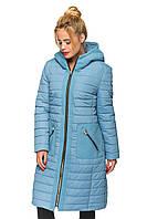 Зимняя удлиненная женская куртка - пальто, фото 1